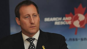 Defence Minister Peter MacKay listens to a question during a press conference at Stadacona Sunday where he announced an additional $8.1 million in funding for Search and Rescue. (MARK GOUDGE)